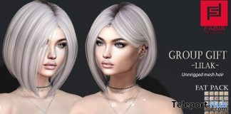 Lilak Hair Fatpack August 2018 Group Gift by FABIA - Teleport Hub - teleporthub.com