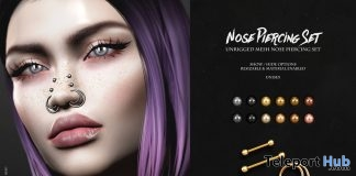 Nose Piercings Set August 2018 Group Gift by Suicidal Unborn - Teleport Hub - teleporthub.com