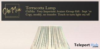 Terracotta Lamp September 2018 Group Gift by ChiMia - Teleport Hub - teleporthub.com