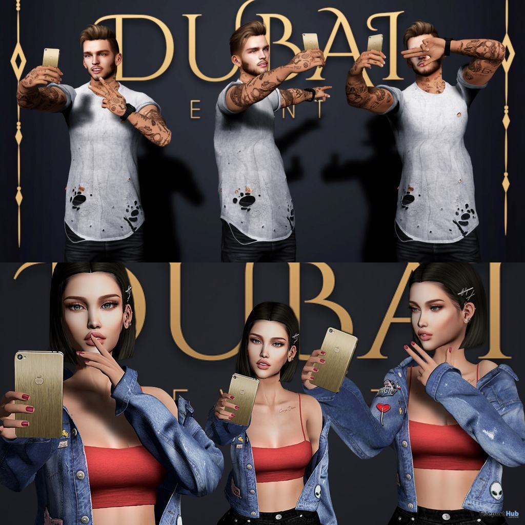 Selfie Poses DUBAI Event August 2018 Group Gift by WRONG x The Owl - Teleport Hub - teleporthub.com