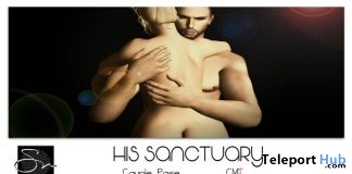 His Sanctuary Couple Pose & Missys Sunset Single Pose August 2018 Group Gift by Something New - Teleport Hub - teleporthub.com