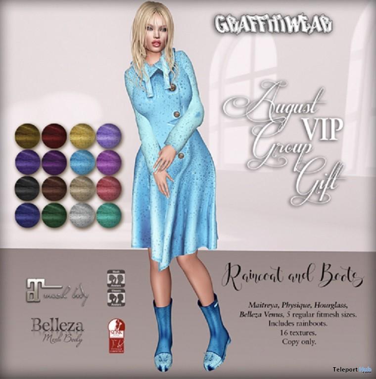 Raincoat & Boots August 2018 Group Gift by Graffitiwear - Teleport Hub - teleporthub.com