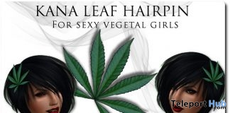 Kana Leaf Hairpin 1L Promo Gift by [Paris - Bxl] - Teleport Hub - teleporthub.com