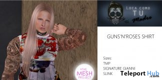 Guns'n'Roses Male Shirt September 2018 Group Gift by LCTM - Teleport Hub - teleporthub.com