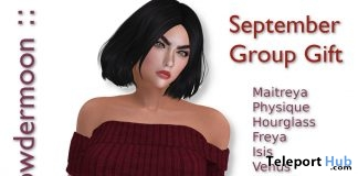 Off Shoulder Knit Top September 2018 Group Gift by powdermoon - Teleport Hub - teleporthub.com