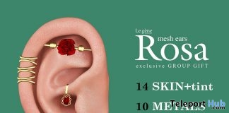 Rosa Mesh Ears September 2018 Group Gift by Le gene - Teleport Hub - teleporthub.com