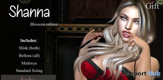 Shanna Blossom Bra & Panties September 2018 Group Gift by Blacklace - Teleport Hub - teleporthub.com