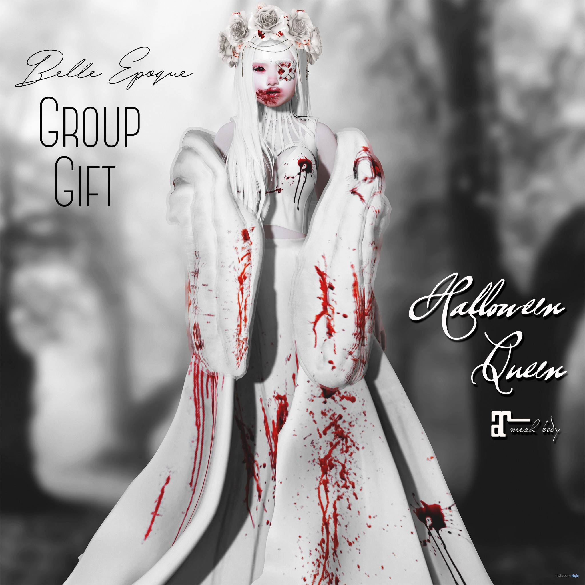 Halloween Queen Outfit September 2018 Group Gift by Belle Epoque - Teleport Hub - teleporthub.com