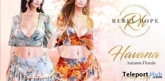 Havanna Autumn Florals Outfit September 2018 Group Gift by Rebel Hope - Teleport Hub - teleporthub.com