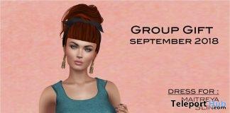 Blue Dress September 2018 Group Gift by Selene Creations - Teleport Hub - teleporthub.com