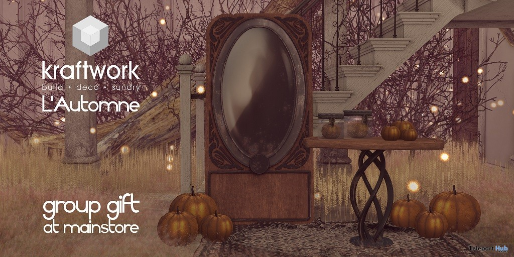 L'Automne Decors September 2018 Group Gift by KraftWork - Teleport Hub - teleporthub.com