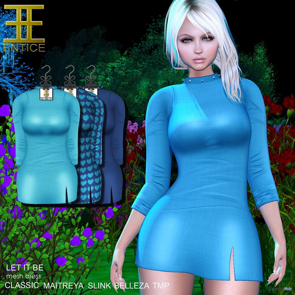Let It Be Dress The Makeover Room September 2018 Group Gift by Entice - Teleport Hub - teleporthub.com