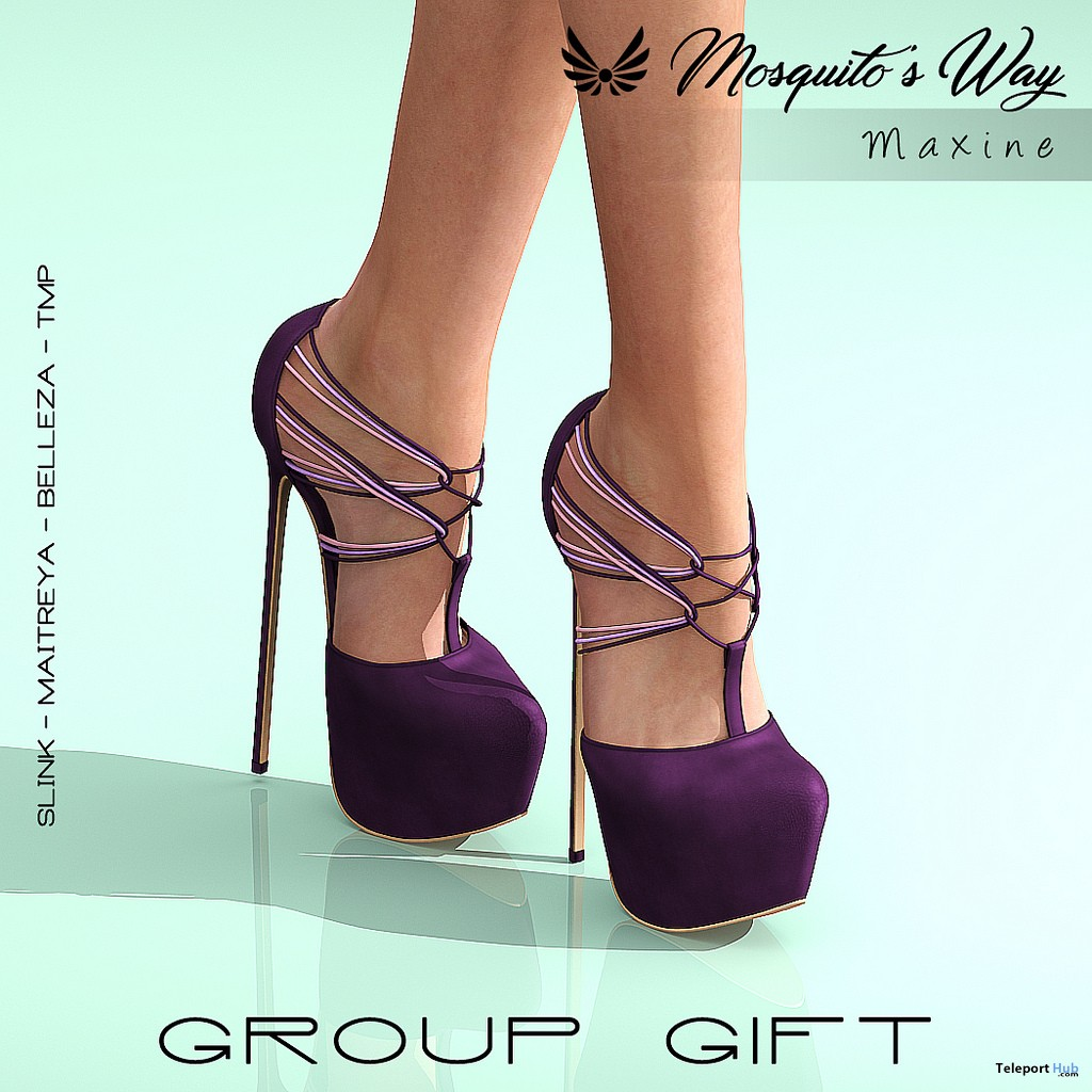 Maxine Heels September 2018 Group Gift by Mosquito's Way - Teleport Hub - teleporthub.com