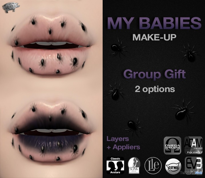 My Babies Lips September 2018 Group Gift by Mad' - Teleport Hub - teleporthub.com