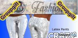 Crazy White Latex Pants September 2018 Group Gift by TAW Fashion - Teleport Hub - teleporthub.com