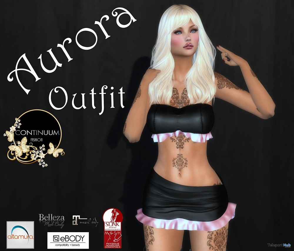 Aurora Outfit September 2018 Group Gift by Continuum - Teleport Hub - teleporthub.com