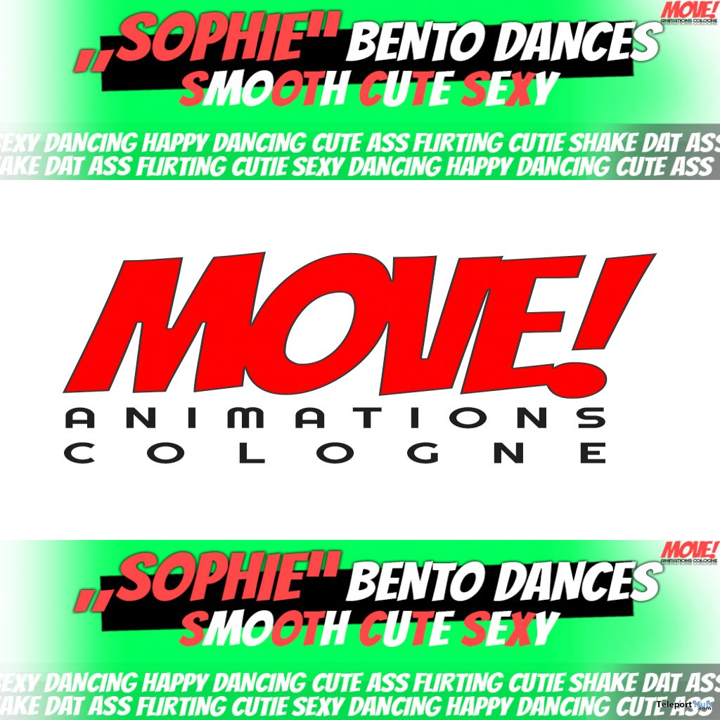 New Release: Sophie Bento Dance Pack by MOVE! Animations Cologne - Teleport Hub - teleporthub.com