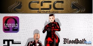 Latexsuit Bloodred and Bloodbath September 2018 Group Gift by CSC - Teleport Hub - teleporthub.com