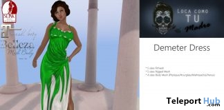 Demeter Dress September 2018 Group Gift by LCTM - Teleport Hub - teleporthub.com