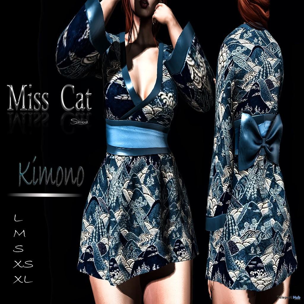 Kimono September 2018 Group Gift by Miss Cat Store - Teleport Hub - teleporthub.com
