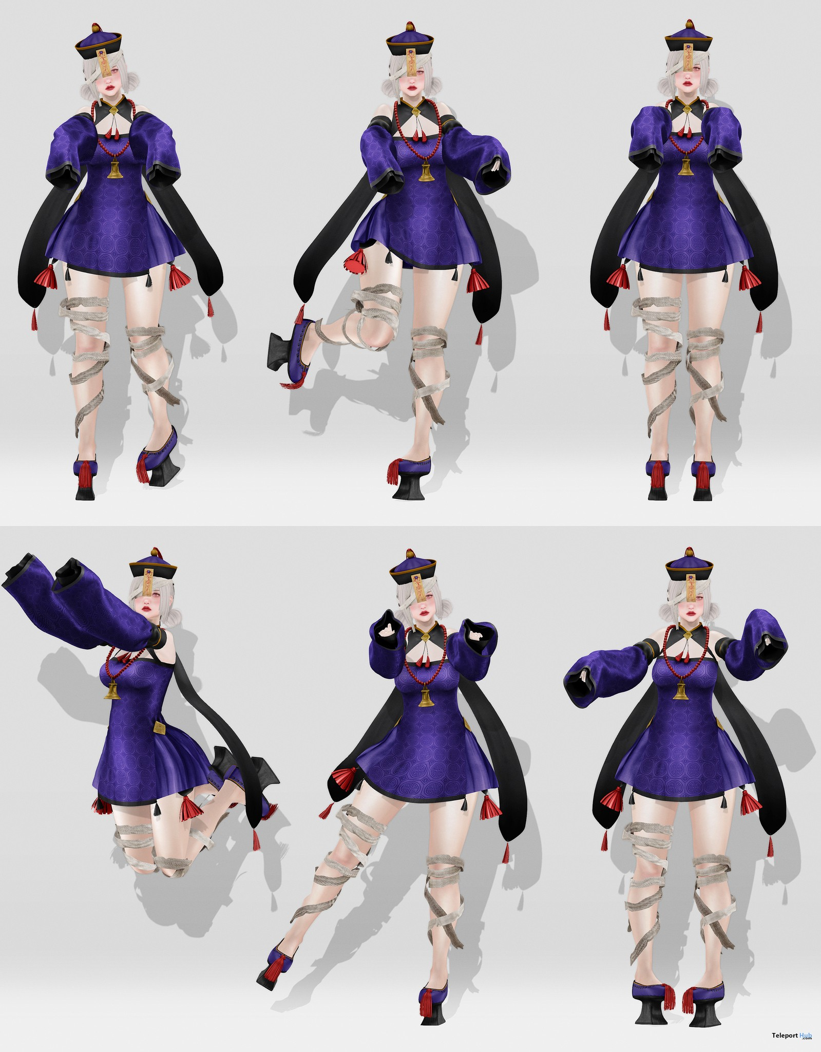 Jiangshi Chinese Vampire Poses October 2018 Group Gift by Bonbon - Teleport Hub - teleporthub.com