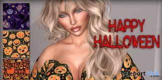 Halloween Top With HUD October 2018 Group Gift by Graffitiwear - Teleport Hub - teleporthub.com