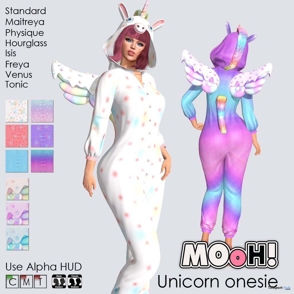 Unicorn Onesie October 2018 Group Gift by MOoH! - Teleport Hub - teleporthub.com