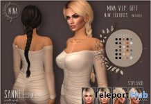 Sanne Hair Essentials Pack October 2018 Group Gift by MINA Hair - Teleport Hub - teleporthub.com