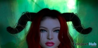 Horns With Pearls & Sparkles October 2018 Group Gift by DarkFire - Teleport Hub - teleporthub.com