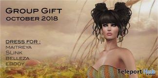 Strapless Dress October 2018 Group Gift by Selene Creations - Teleport Hub - teleporthub.com