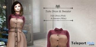 Tube Dress & Sweater October 2018 Group Gift by S@BBiA - Teleport Hub - teleporthub.com