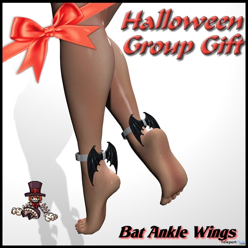 Bat Ankle Wings Halloween 2018 Group Gift by BORN TO DIE - Teleport Hub - teleporthub.com