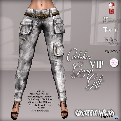 Pocket Pants October 2018 Group Gift by Graffitiwear - Teleport Hub - teleporthub.com