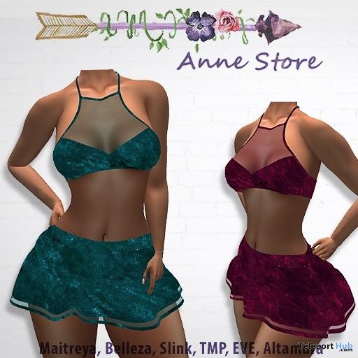 Mary Velvet Top & Skirt 1L Promo Gift by Anne Store - Teleport Hub - teleporthub.com
