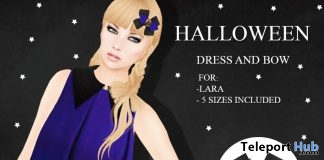 Halloween Dress October 2018 Group Gift by ZENDRA - Teleport Hub - teleporthub.com
