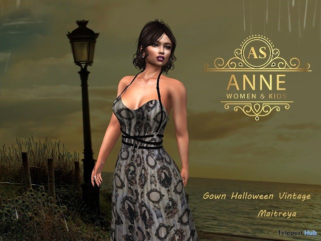 Vintage Formal Gown Halloween 10L Promo by Anne Store - Teleport Hub - teleporthub.com