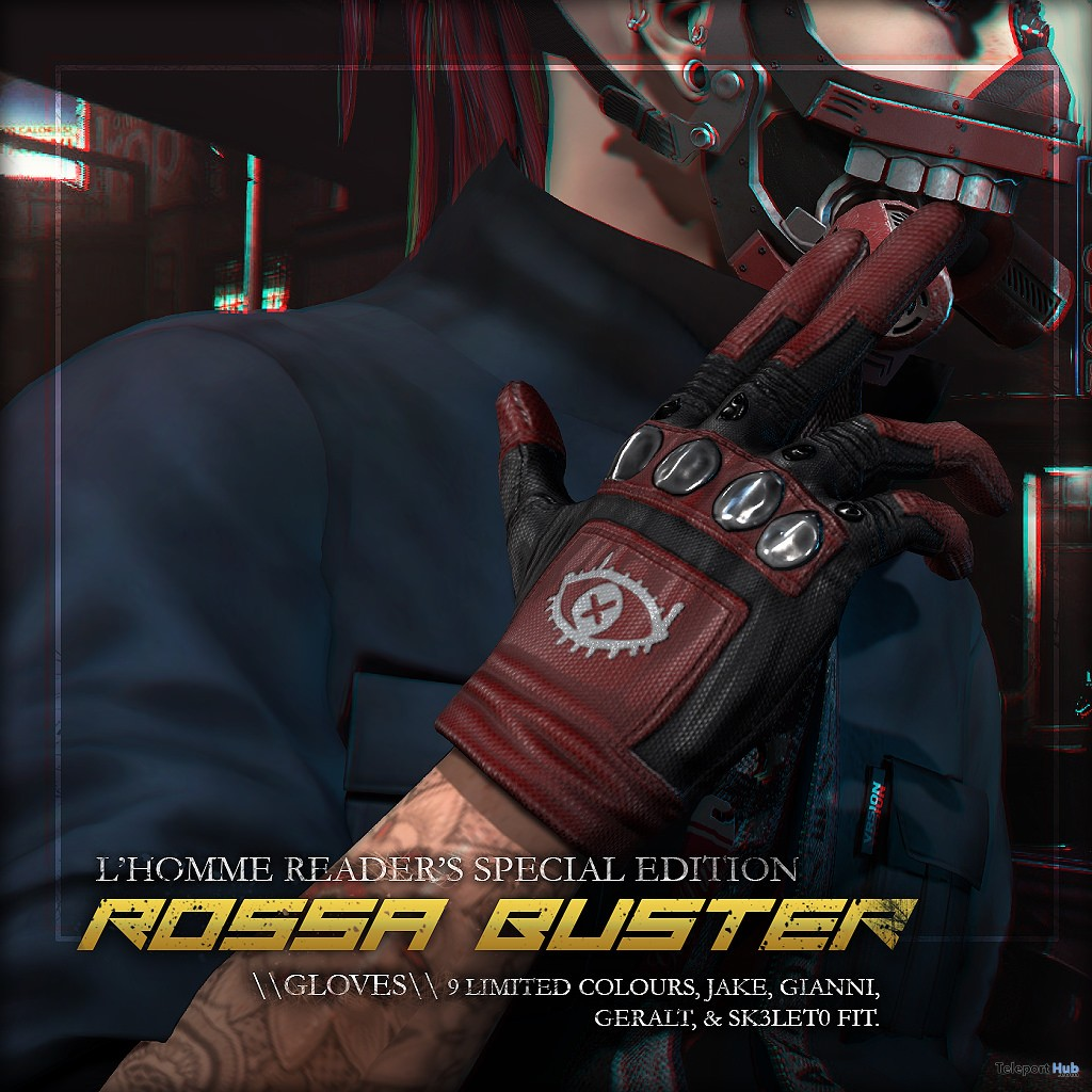 Rossa Buster Gloves Limited Edition L'HOMME Magazine November 2018 Group Gift by ContraptioN - Teleport Hub - teleporthub.com