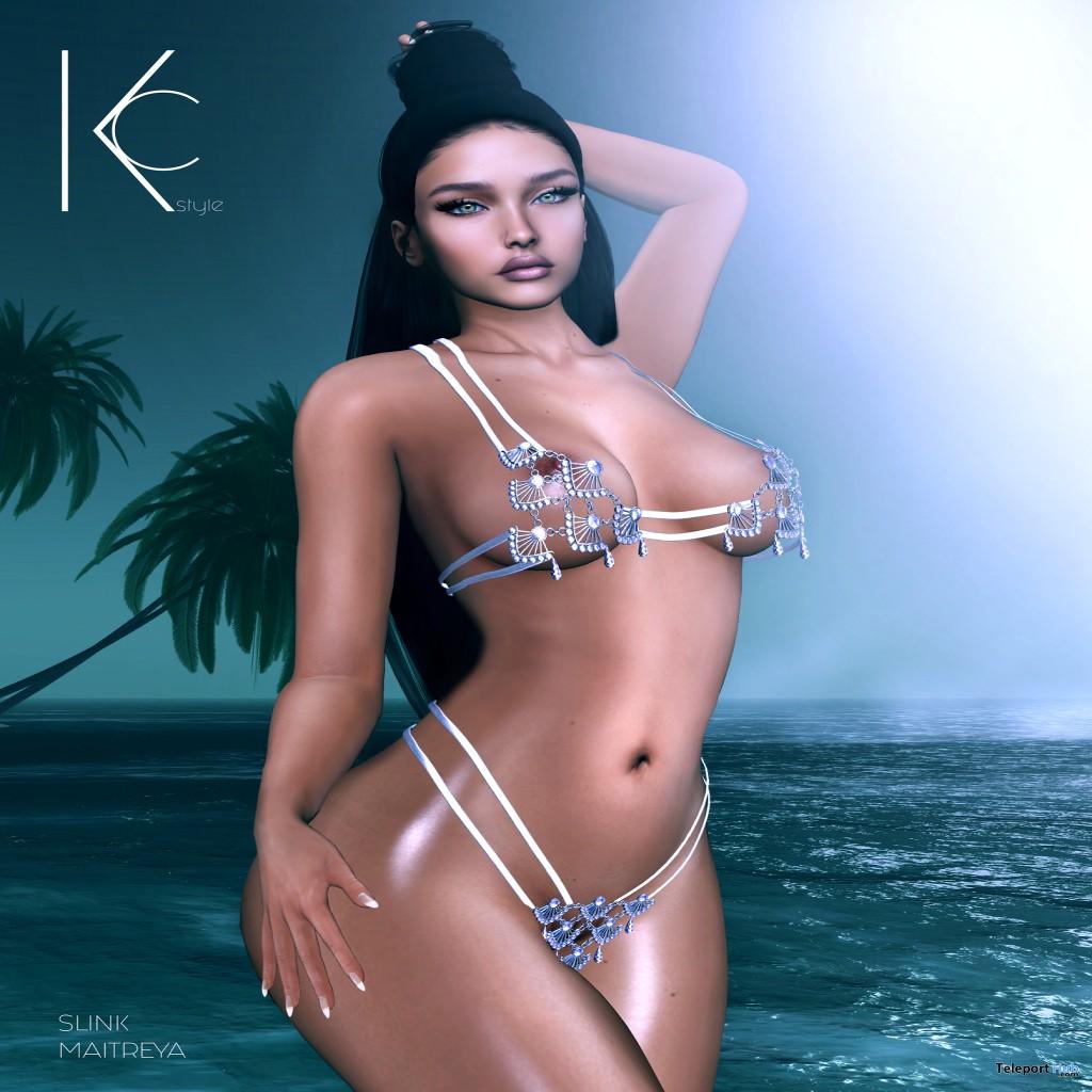 Antea Bikini Navy Blue November 2018 Group Gift by Kc.Style - Teleport Hub - teleporthub.com