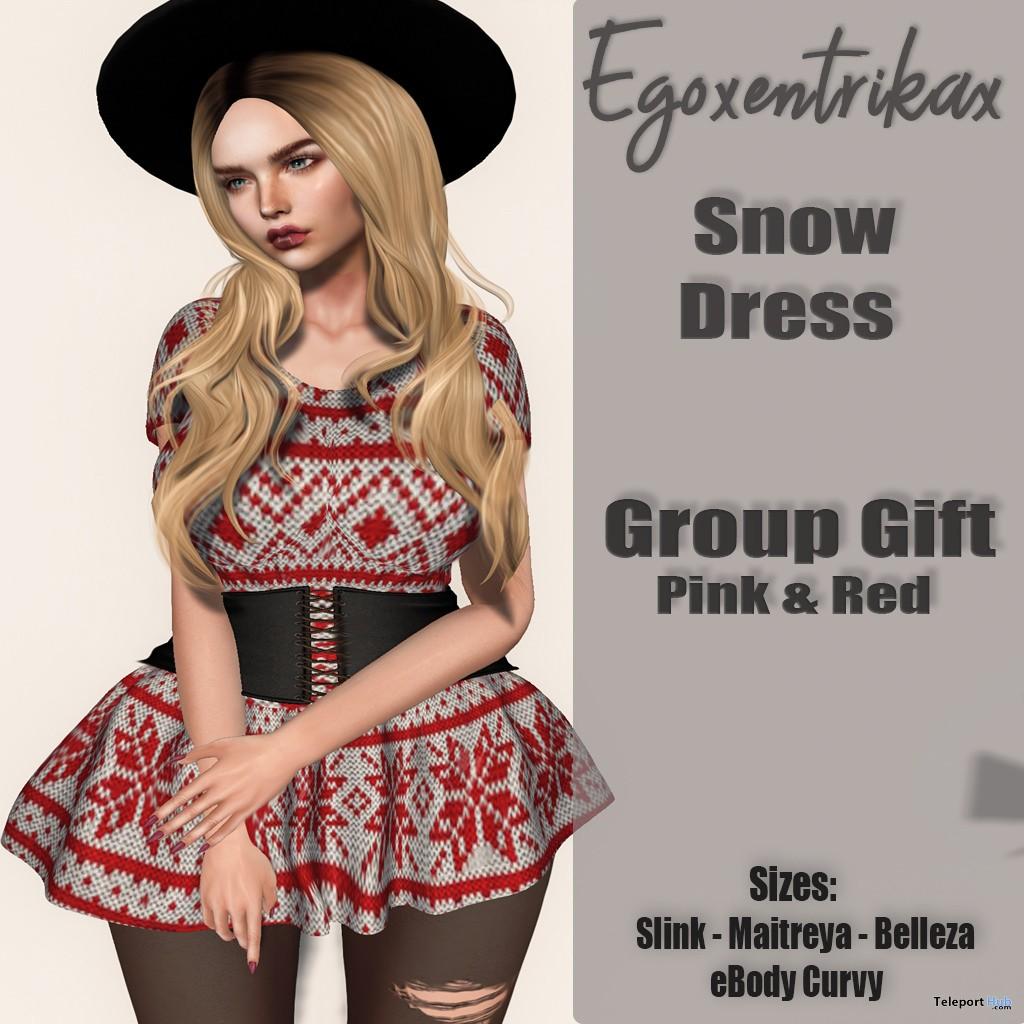 Snow Dress December 2018 Group Gift by Egoxentrikax - Teleport Hub - teleporthub.com
