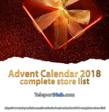 Advent Calendar 2018 Complete Store List - Teleport Hub - teleporthub.com