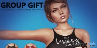 KIM Naughty Thanksgiving Top November 2018 Group Gift by HEC - Teleport Hub - teleporthub.com