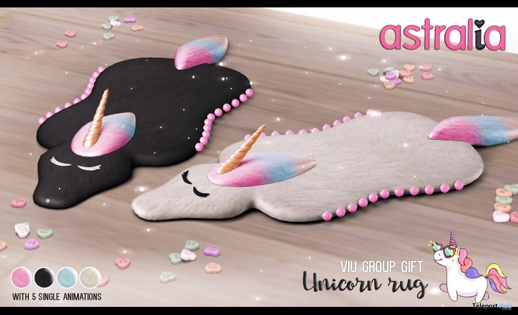 Unicorn Rug January 2019 Group Gift by Astralia - Teleport Hub - teleporthub.com