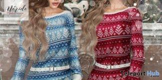 Miranda Dress Christmas 2018 Group Gift by Nerido - Teleport Hub - teleporthub.com