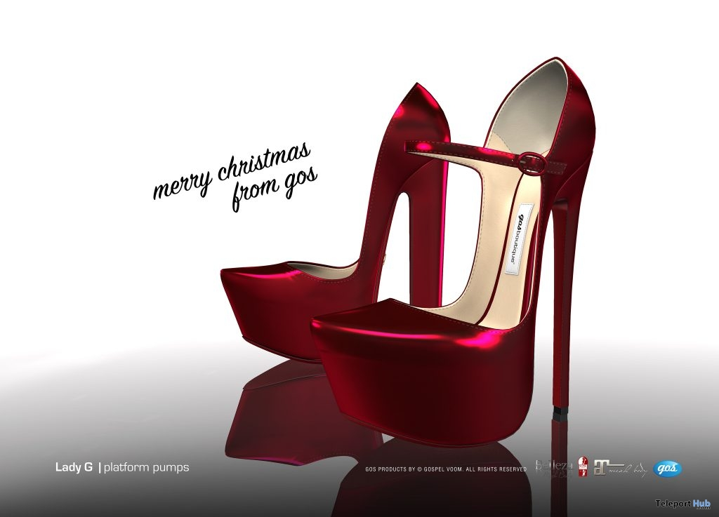 Lady G Platform Pumps Christmas 2018 Group Gift by Gos Boutique - Teleport Hub - teleporthub.com