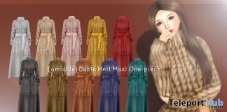 Cable Knit Maxi One-piece 50% Off Promo by {amiable} @ N21 December 2018 - Teleport Hub - teleporthub.com