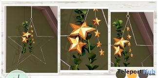 Star Pendant Decoration December 2018 Group Gift by Ariskea - Teleport Hub - teleporthub.com