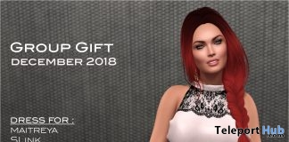 White Dress With Lace December 2018 Group Gift by Selene Creations - Teleport Hub - teleporthub.com