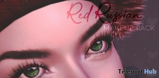 Red Russian Makeup Pack December 2018 Group Gift by Liberte - Teleport Hub - teleporthub.com