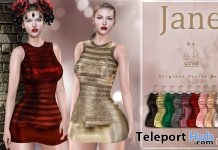 New Releases: Jane Dress by SK @ Sense Event December 2018 - Teleport Hub - teleporthub.com