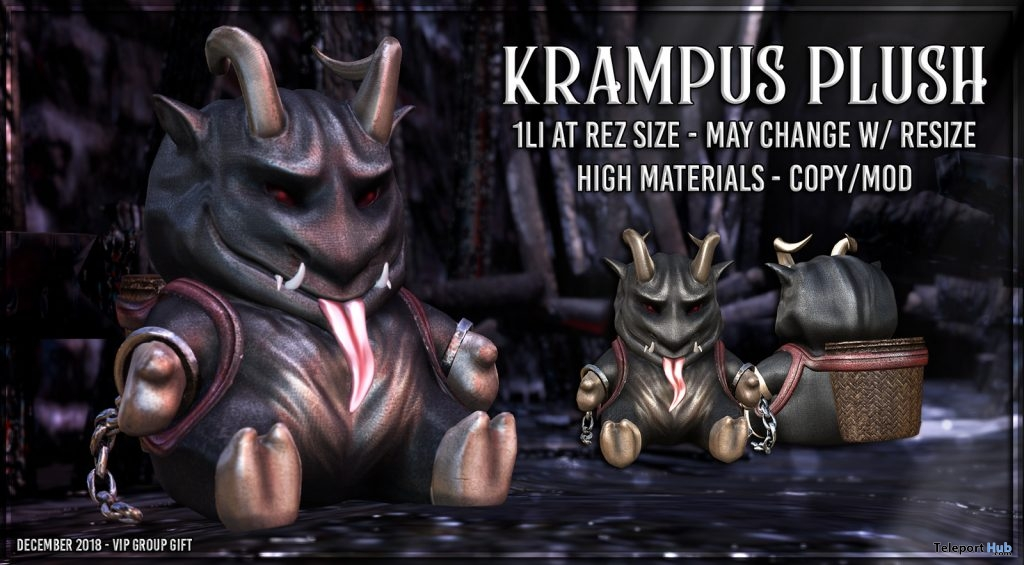 Kramps Plush December 2018 Group Gift by AsteroidBox - Teleport Hub - teleporthub.com